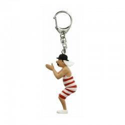 Figurine Moulinsart Tintin - Dupond baigneur 9 cm (Porte-clefs)