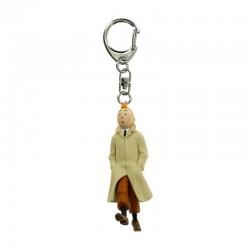 Figurine Moulinsart Tintin - Tintin trench marchant 9 cm (Porte-clefs)
