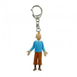 Figurine Moulinsart Tintin - Tintin pull bleu 8,5cm (Porte-clefs)