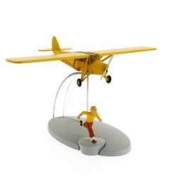 Avion Moulinsart Tintin - Fig 07 Avion orange + Tintin