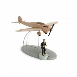 Avion Moulinsart Tintin - Fig 18 Avion beige Faux monnayeurs + Bandit