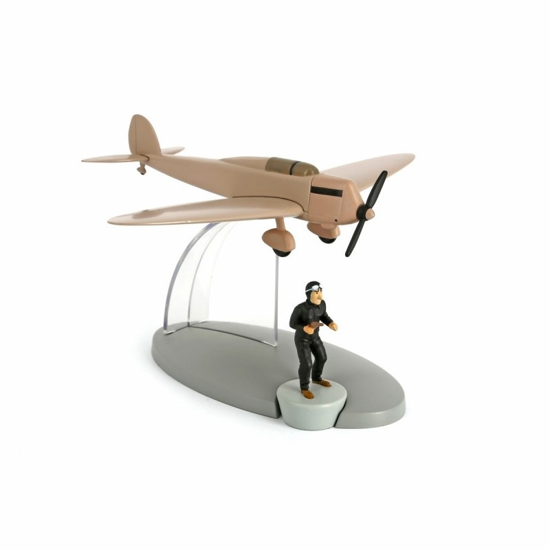 Avion Moulinsart Tintin - Fig 18 Avion beige Faux monnayeurs + Bandit