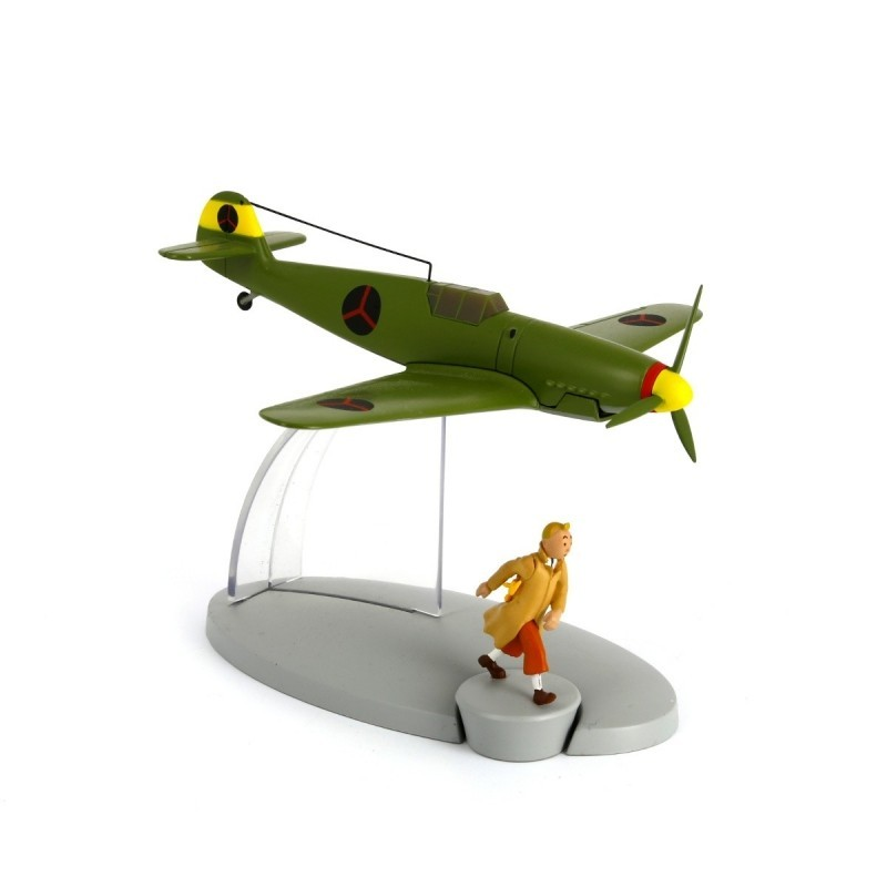 Avion Moulinsart Tintin - Fig 16 Chasseur bordure BF-109 + Tintin