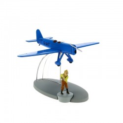 Avion Moulinsart Tintin - Fig 31 Avion de course bleu + Tintin