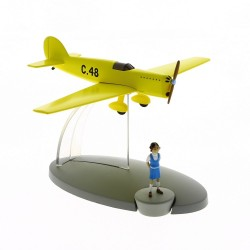 Avion Moulinsart Tintin - Fig 46 Prototype C48 + Zette