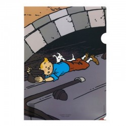 Papeterie Moulinsart Tintin - Chemise plastique A4 Ile noire Train