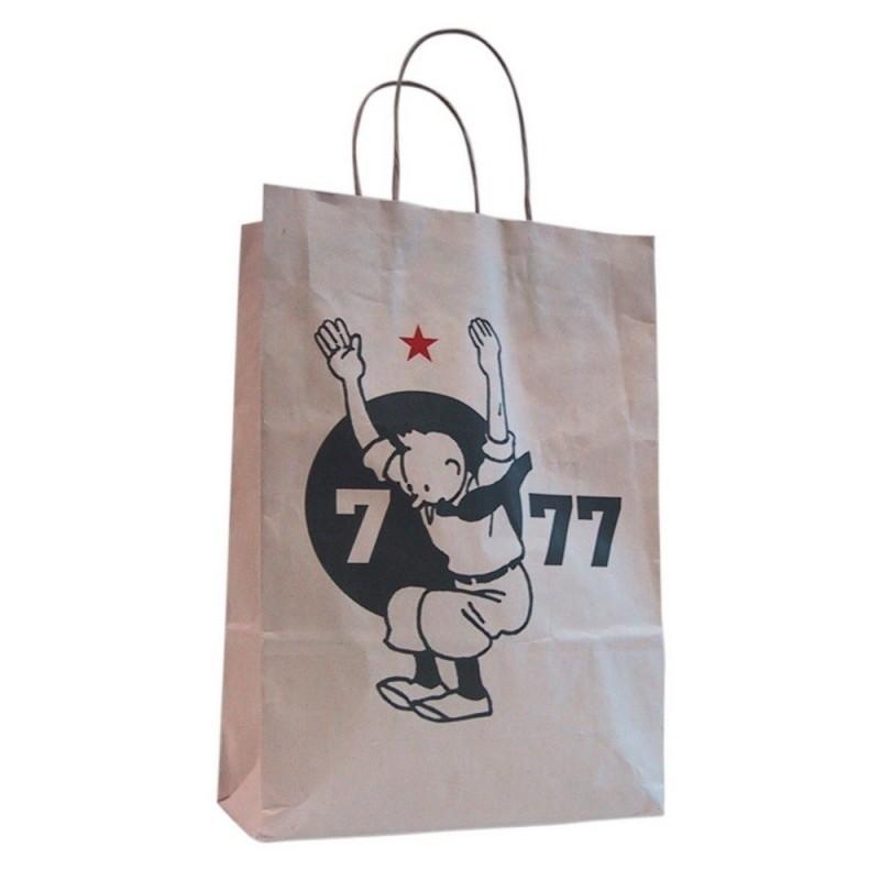 """Bagagerie Moulinsart Tintin - Sac papier """"7 à 77 ans"""""""
