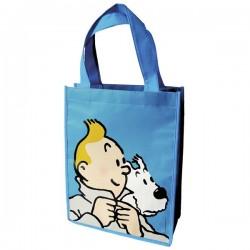 Bagagerie Moulinsart Tintin - Sac semi-imperméable bleu PM