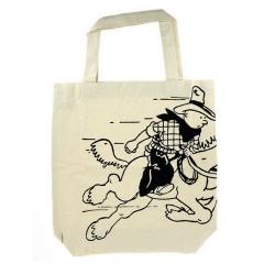 Bagagerie Moulinsart Tintin - Sac tissu coton Tintin à cheval