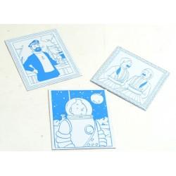 Plaque émaillée Tintin - Portrait pages de garde Swift Tintin cosmonaute