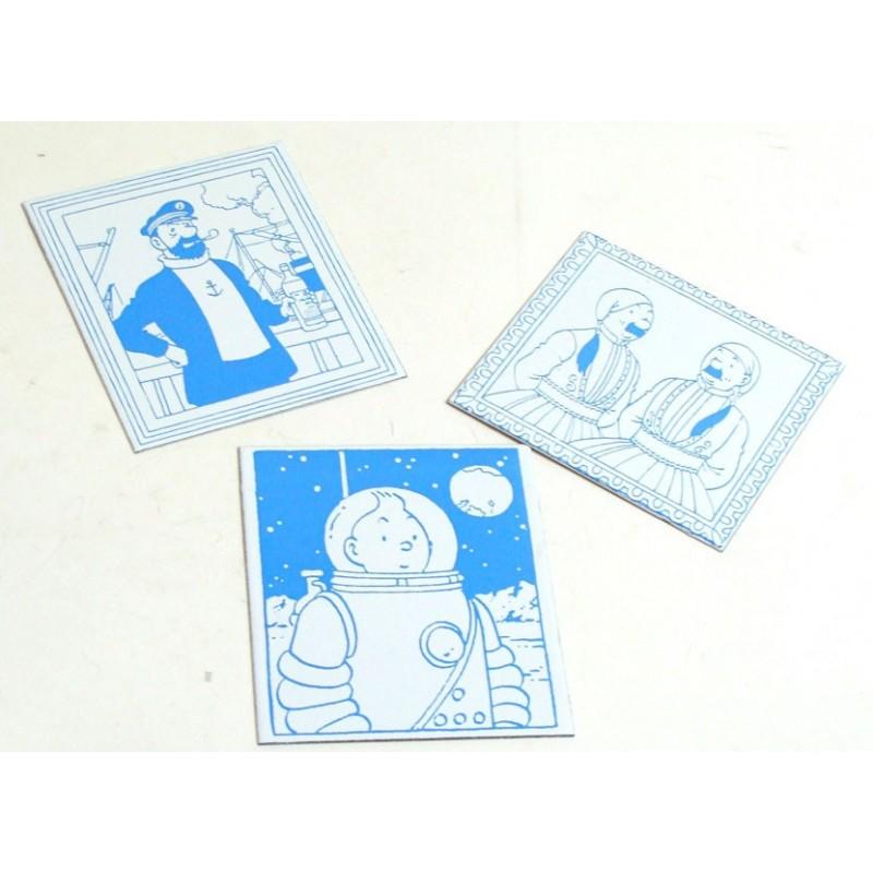 Plaque émaillée Tintin - Portrait pages de garde Swift Dupondts costumés