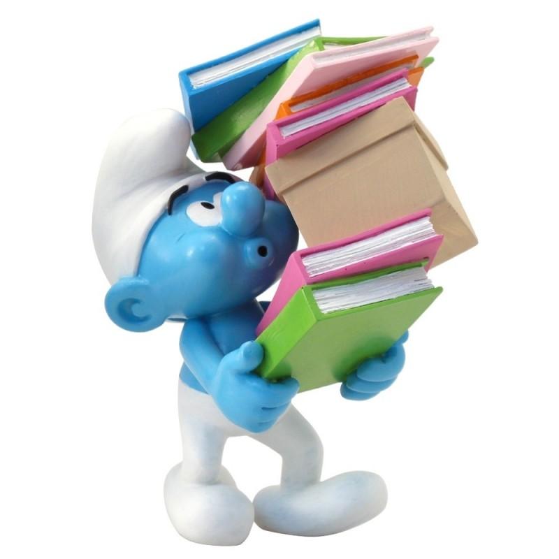 Collectoys Peyo Schtroumpfs - Schtroumpf pile de livres