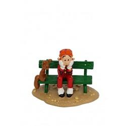 Pixi Franquin Spirou - Spirou et Spip assis sur un banc