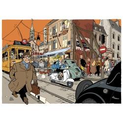 Tirage d'art Schwartz Spirou - Seccotine Illustration inédite (Couleur)
