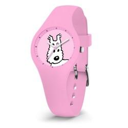 """Horlogerie Moulinsart Tintin - Montre Tintin & Co : Sport Skin Milou """"XS"""" (Pink)"""