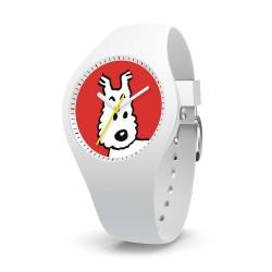 """Horlogerie Moulinsart Tintin - Montre Tintin & Co : Sport Skin Milou """"S"""" (White)"""
