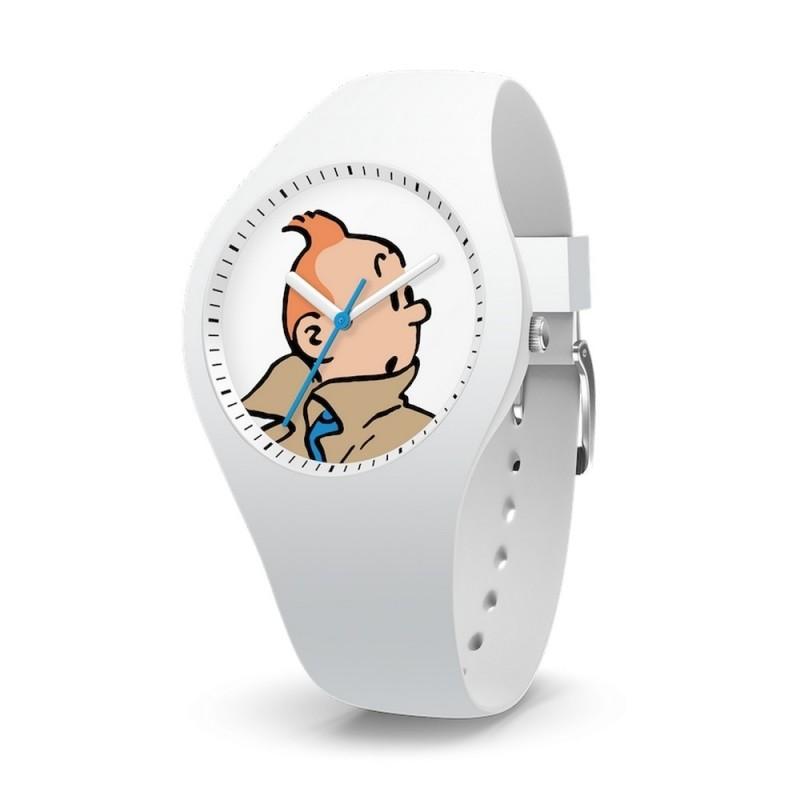 """Horlogerie Moulinsart Tintin - Montre Tintin & Co : Sport Skin Tintin """"S"""" (White)"""