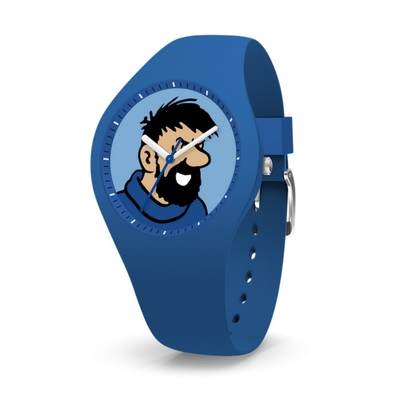 "Horlogerie Moulinsart Tintin - Montre Tintin & Co : Sport Skin Haddock ""M"" (Blue)"