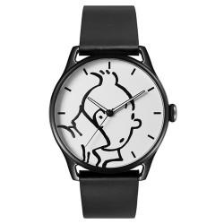 """Horlogerie Moulinsart Tintin - Montre Tintin & Co : Classic """"L"""" (Black/Black)"""