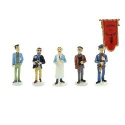 Pixi Moulinsart Tintin - Carte de Voeux - Porte-drapeau de l'Harmonie de Moulinsart