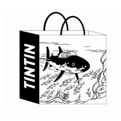 Bagagerie Moulinsart Tintin - Sac papier Sous-marin Requin