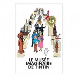 """Poster Moulinsart Tintin - """"Le Musée Imaginaire de Tintin"""""""