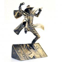 """Pixi Jacobs Blake et Mortimer - """"Bronze"""" Guinéa Pig sautant du toit"""