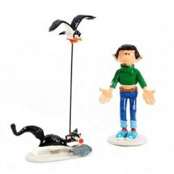 Pixi Franquin Gaston - Gaston avec son Chat et sa Mouette