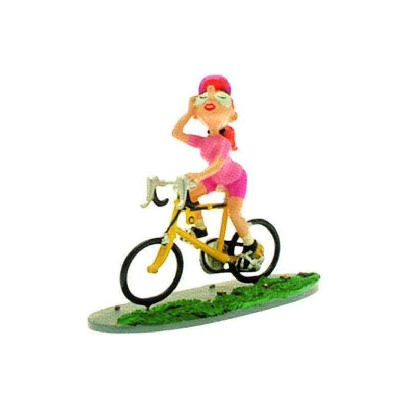 Pixi Franquin Gaston - Mademoiselle Jeanne cycliste (Maillot rose / vélo jaune)