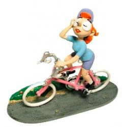 Pixi Franquin Gaston - Mademoiselle Jeanne cycliste (Maillot bleu)