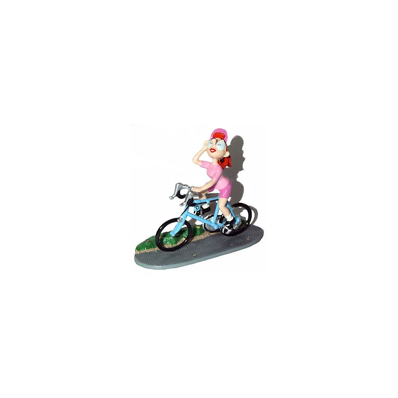 Pixi Franquin Gaston - Mademoiselle Jeanne cycliste (Maillot rose / vélo bleu)