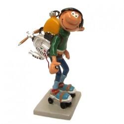 Pixi Franquin Gaston - Gaston moteur sur patins à roulettes