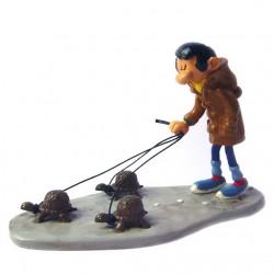 Pixi Franquin Gaston - La promenade de Gaston avec ses 3 tortues