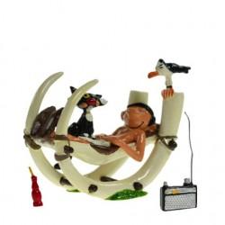 Pixi Franquin Gaston -  Gaston dans sa chaise à bascule préhistorique