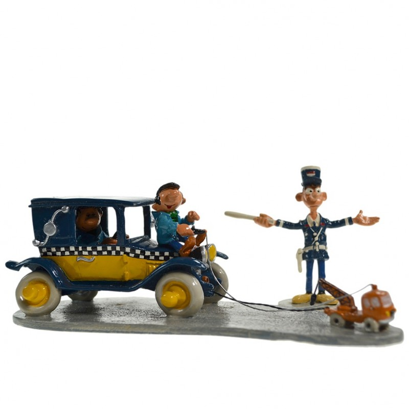 Pixi Franquin Gaston -  Le taxi de Gaston et la mini-dépanneuse avec Longtarin