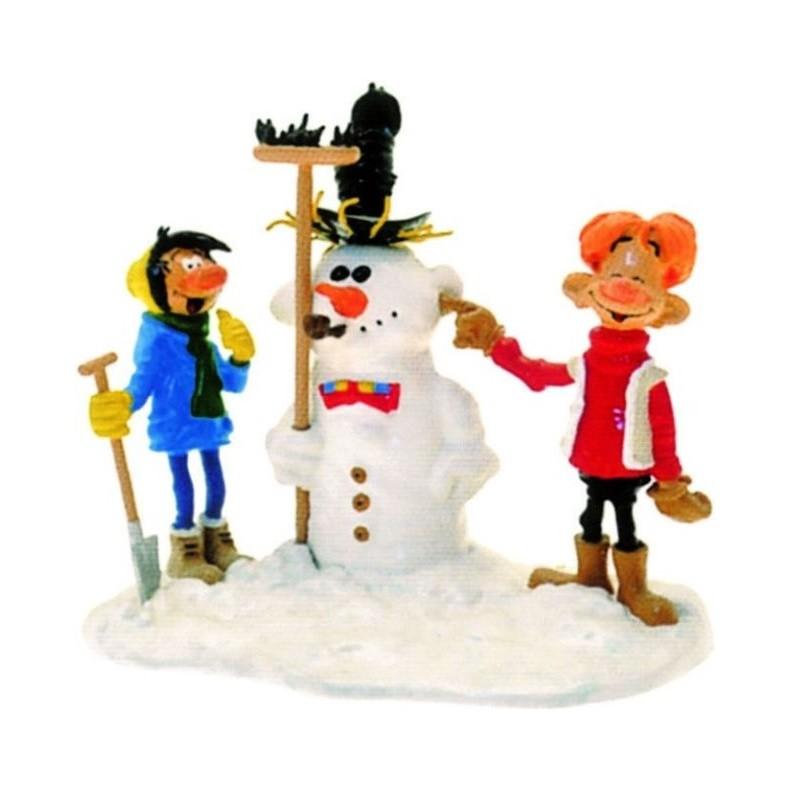 Pixi Franquin Gaston - Gaston et Jules avec le Bonhomme de neige
