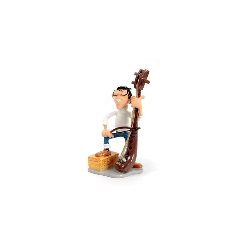 Pixi Franquin Gaston - Bertrand Labévue jouant de la Vièle du groupe Roi des Sons