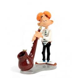 Pixi Franquin Gaston - Jules-de-chez-Smith jouant de sa Pipe musicale du groupe Roi des Sons