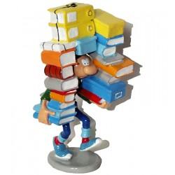 Pixi Franquin Gaston - Gaston portant une pile de livres et de documents