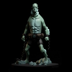 Fariboles Mignola Hellboy - Abe Sapien (scale 1/8)