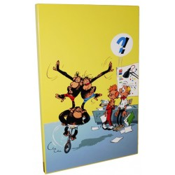 Plaque émaillée Spirou & Fantasio - Bravo les Brothers 40x60