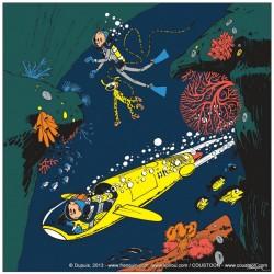 Plaque émaillée Spirou & Fantasio - Repaire de la Murène (Classique) 59x59