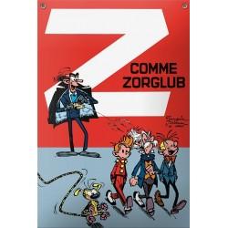 Plaque émaillée Spirou & Fantasio - Z comme Zorglub 27x40