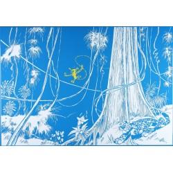 Plaque émaillée Spirou & Fantasio - Nid des Marsupilamis 72x50