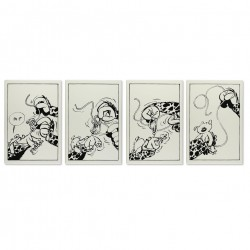 Plaque émaillée Spirou & Fantasio - Nid des Marsupilamis (Strip) 110x39