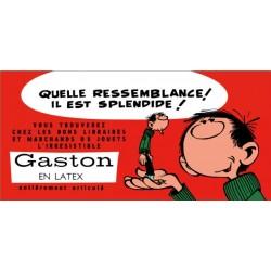 Plaque émaillée Gaston - Gaston en Latex 100x48