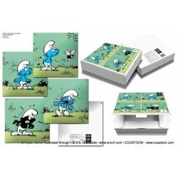 Plaque émaillée Schtroumpfs - Schtroumpfs Noirs (Classique) 60x60