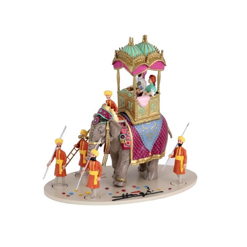 Pixi Moulinsart Tintin - Collection Classique - Scène triomphale éléphant altesse