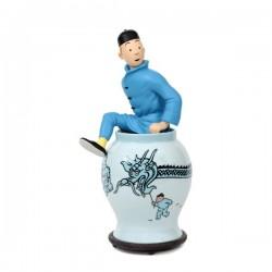 Figurine Moulinsart Tintin - Tintin sortant de la potiche