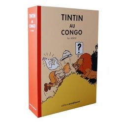 Lithographie Moulinsart Tintin - Coffret Tintin Congo colorisé 19x27